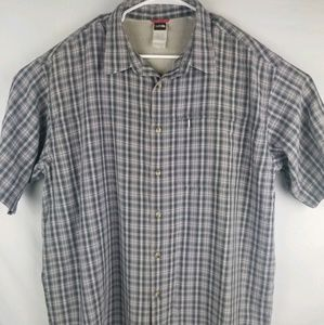 The North face Mens Short Sleeve Plaid Button Up